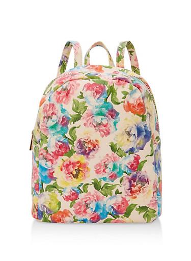 Floral Backpack,BLUSH FLORAL,large