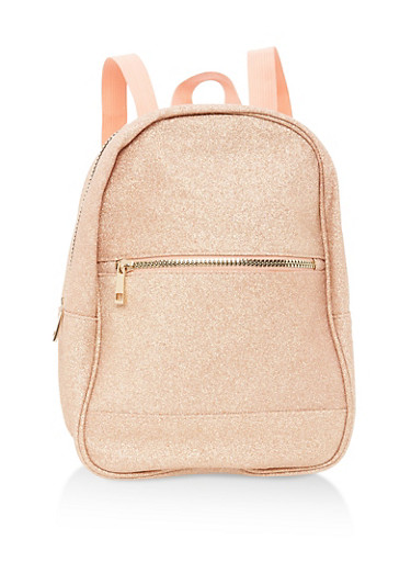 Glitter Zip Backpack,FRESH SALMON,large