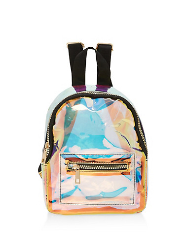 Clear Iridescent Backpack,MULTI COLOR,large
