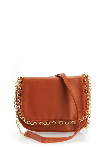 Chain Crossbody Purse,CAMEL,large
