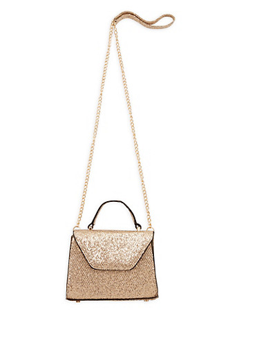 Small Netted Glitter Crossbody Bag,GOLD,large