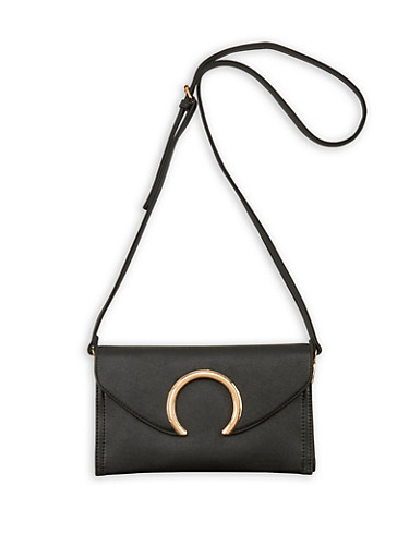 Envelope Crossbody Bag,BLACK,large