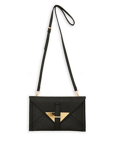 Crossbody Envelope Bag,BLACK,large