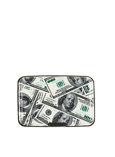 Hundred Dollar Bills Graphic Card Holder Wallet - Rainbow