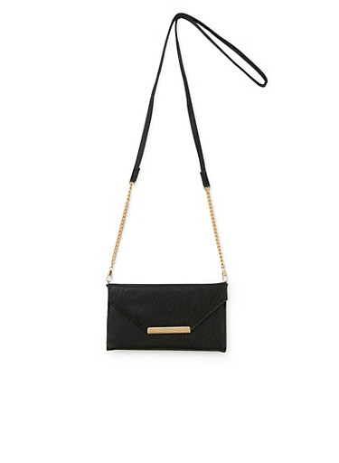 Convertible Crossbody Bag in Faux Leather,BLACK,large