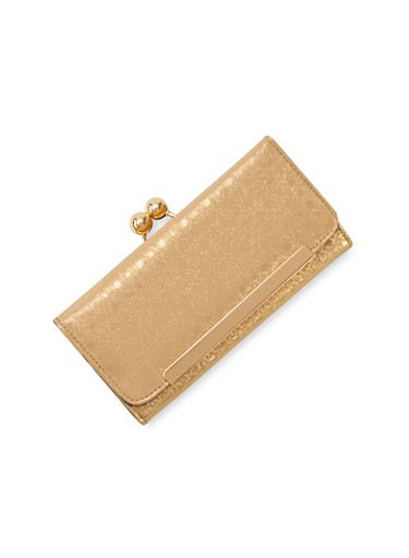 Flap Wallet with Coin Purse,GOLD,large