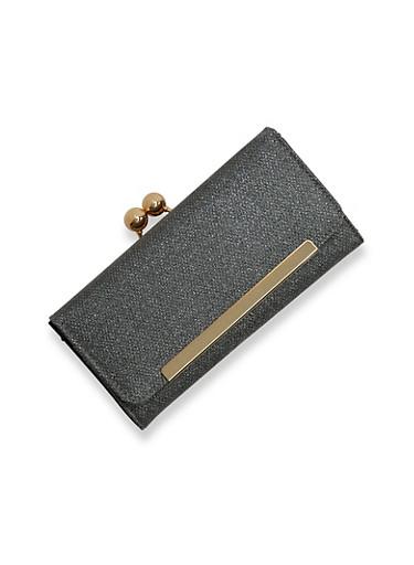 Shimmer Coin Purse Wallet,BLACK,large