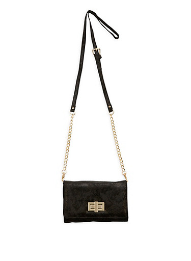 Velvet Crossbody Bag,BLACK,large