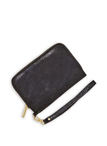 Glitter Velvet Wallet,BLACK/BLACK,large