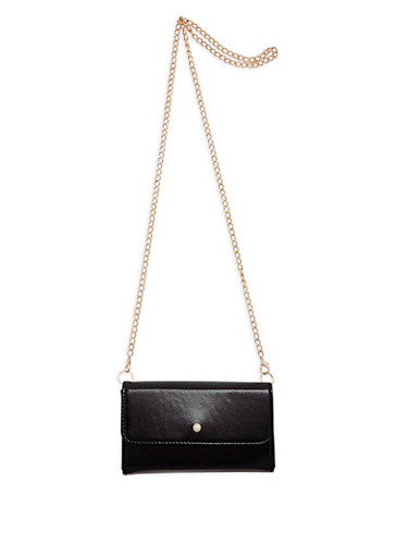 Faux Pearl Stud Crossbody Bag,BLACK,large