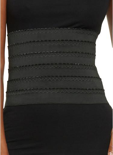 Stretch Knit Waist Belt,BLACK,large