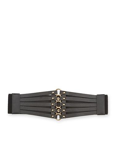 Plus Size Corset Belt,BLACK,large