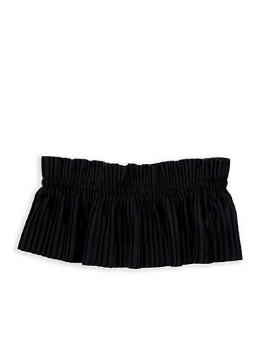 Plus Size Pleated Velvet Waist Belt,BLACK,large