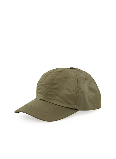 Satin Baseball Cap,OLIVE,large