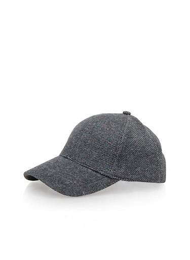 Snapback Hat in Shimmer Knit,CHARCOAL,large