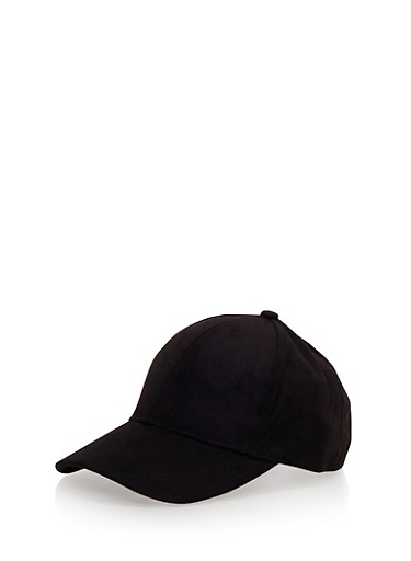 Faux Suede Snapback Hat,BLACK,large