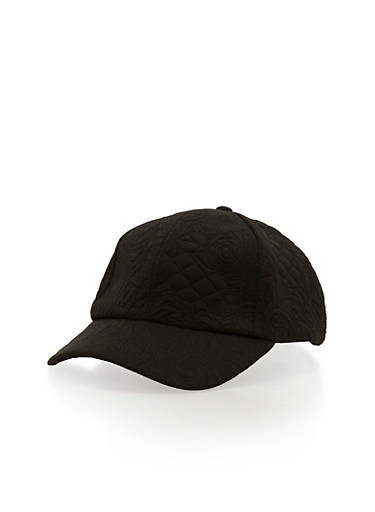 Embossed Snap Back Hat,BLACK,large