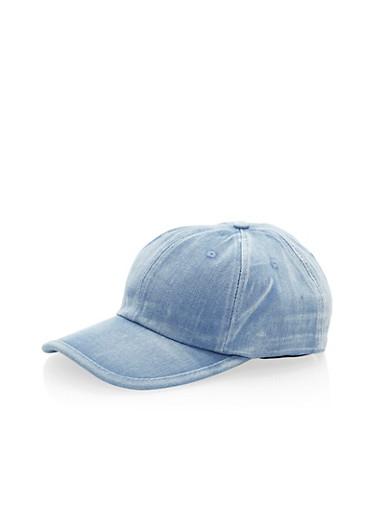 Cloud Wash Denim Baseball Cap,DENIM,large