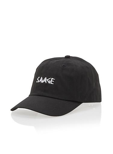 SAVAGE Baseball Hat,BLACK,large