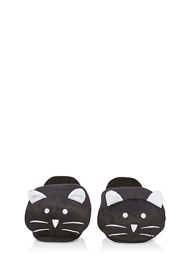 Cat Slippers,BLACK,large