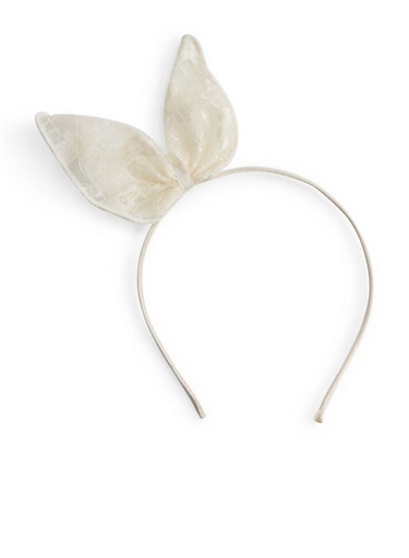 Lace Ear Headband,BEIGE,large