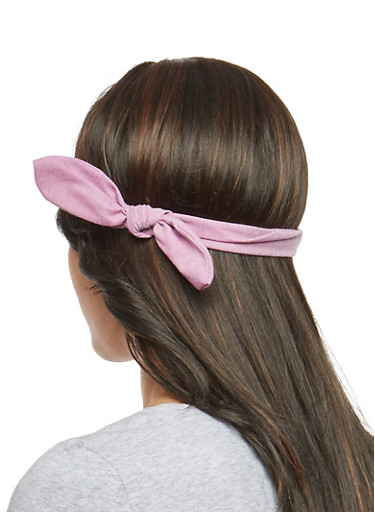 Knotted Stretch Headband,LILAC,large