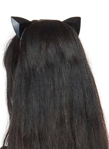 Prism Cat Ears Headband,BLACK,large