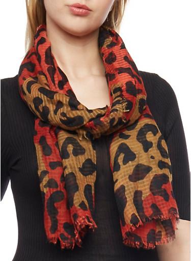 Square Leopard Print Scarf,METALLIC MULTI,large
