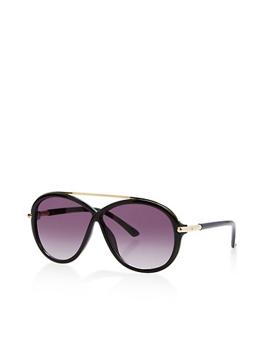 Criss Cross Top Bar Sunglasses,BLACK,large