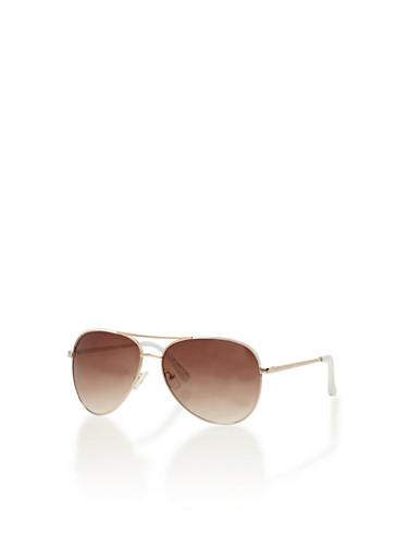 Ombre Aviator Sunglasses,WHITE,large
