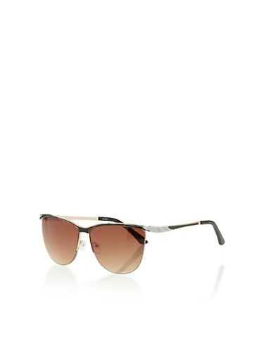 Frameless Sunglasses Lelong : Semi Frameless Clubmaster Sunglasses - Rainbow