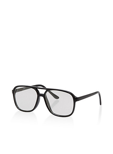Plastic Aviator Glasses,BLACK,large
