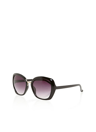 Square Tinted Sunglasses,BLACK,large