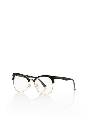 Horned Rim Glasses,BLACK,large