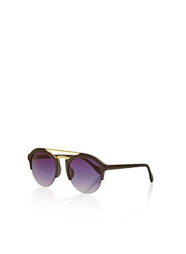Top Bar Semi Frameless Sunglasses - Rainbow