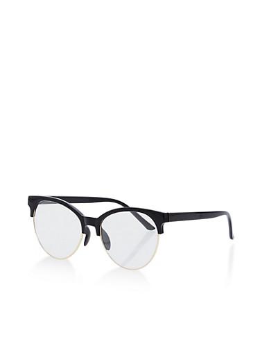 Browline Glasses,BLACK,large