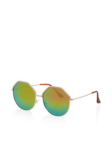 Large Geometric Sunglasses,ROSE,large