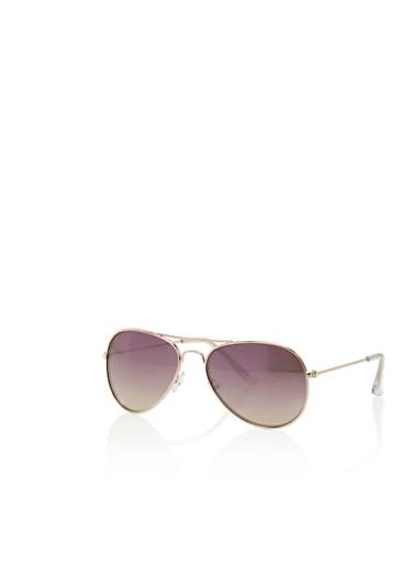 Metal Frame Top Bar Aviator Sunglasses,PINK,large