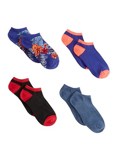 4 Pack of Ankle Socks,MULTI COLOR,large