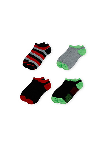 Ankle Socks 4 Pack,LIME,large
