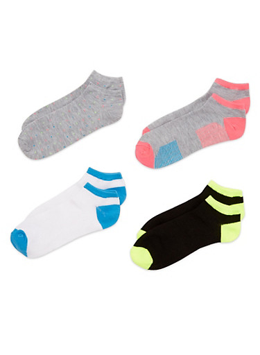 4-Pack Ankle Socks,GRAY,large
