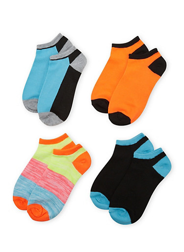 4-Pack of Ankle Socks,BABY BLUE,large