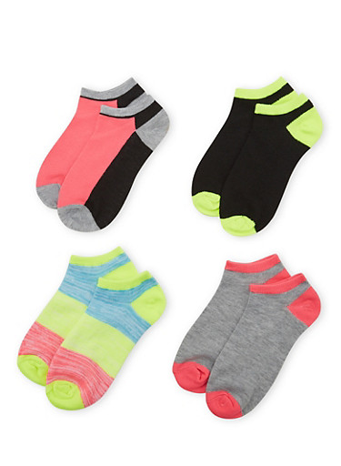 4-Pack of Ankle Socks,FUCHSIA,large