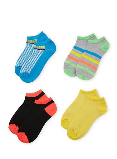 4-Pack of Ankle Socks,MULTI COLOR,large