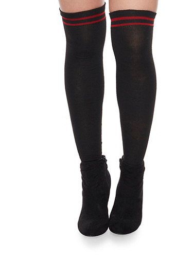 Knne High Socks With Bow Detail,BLACK,large