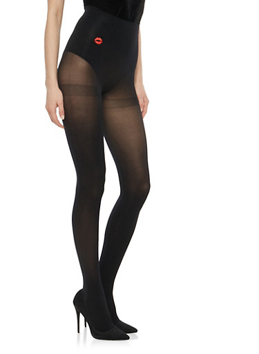 Opaque Black Tights,BLACK,large