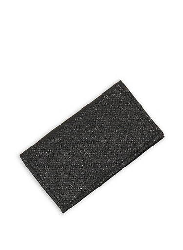 Glitter Knit Card Wallet,BLACK,large