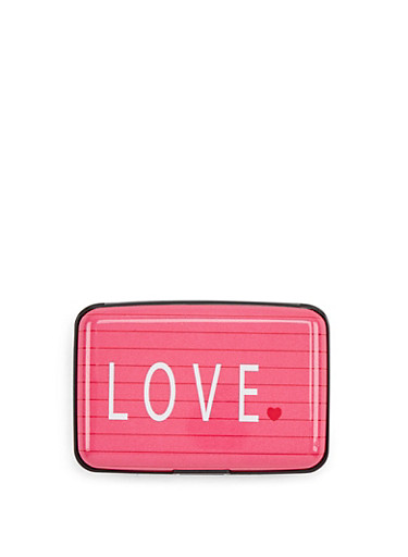 Love Graphic Card Wallet,MULTI COLOR,large