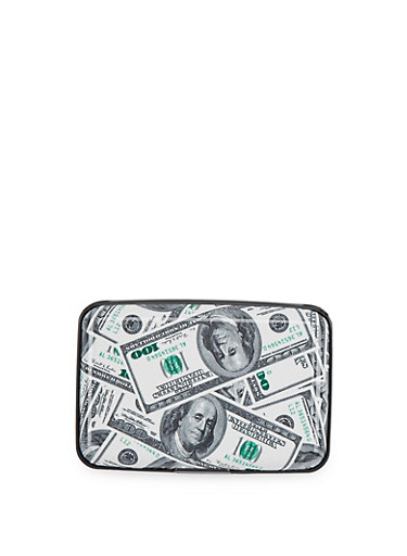 Money Print Card Wallet,MULTI COLOR,large