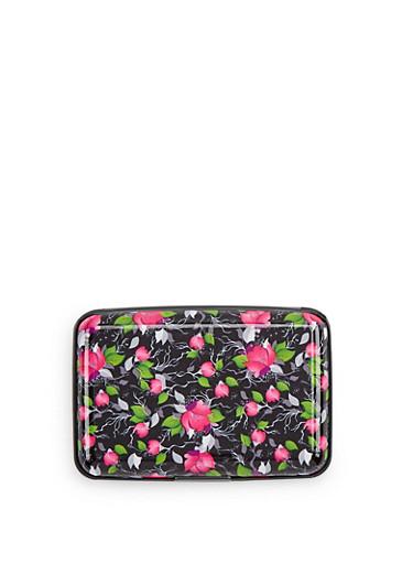 Floral Card Wallet,MULTI COLOR,large